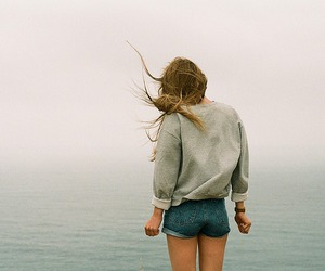 girl, sea, and pale image