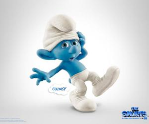 clumsy, the smurfs, and smurfs image