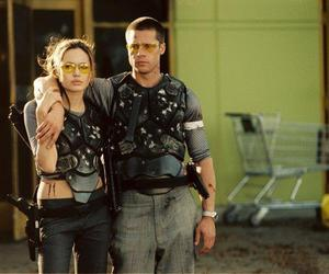 brad pitt, Angelina Jolie, and couple image