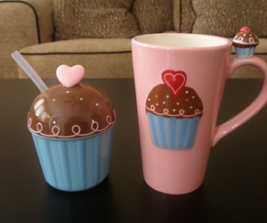 cute, cupcake, and cup image