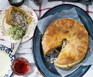 Chicken, crust, and pie image