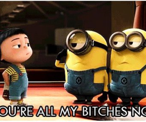 bitch, funny, and minions image