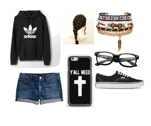 bracelets, casual, and Polyvore image