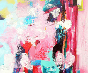 abstract art, Abstract Painting, and pink image