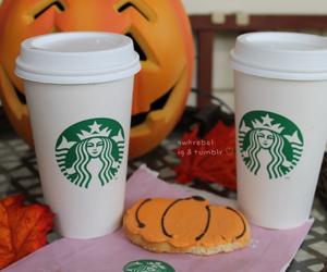 fall, starbucks, and Halloween image