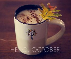 autumn, october, and hello image