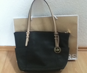 handbag, Michael Kors, and olive green image
