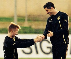 marco reus, bvb, and robert lewandowski image