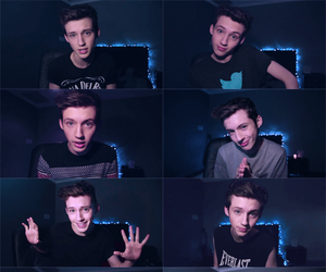 Collage, color, and troye sivan image