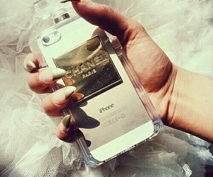 iphone, chanel, and nails image