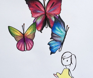 butterfly, color, and pins image