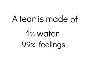feelings, water, and tears image