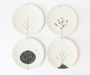 tree, plate, and seasons image