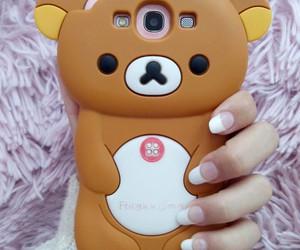 bear, pink, and rilakkuma image