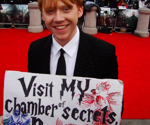 rupert grint, harry potter, and chamber of secrets image