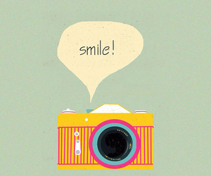 camera, smile, and vintage image