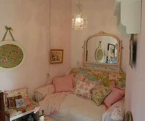 bedroom, country, and feminine image