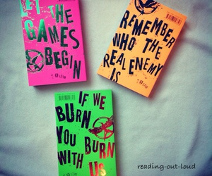 books, flashy, and hunger games image