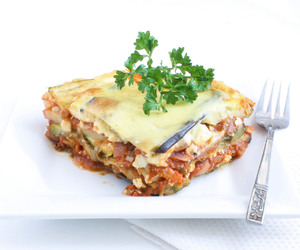 vegetarian recipes, oven recipes, and cooking moussaka image