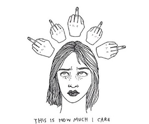 dont care and me fucku grunge draw image