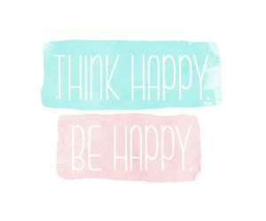 happy, quotes, and think image