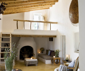 beams, fireplace, and interior design image