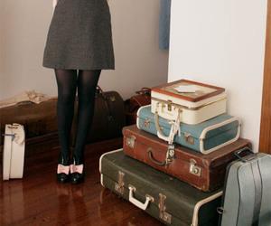 bag, dress, and pinafore image