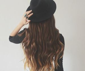 hair, blue, and hat image
