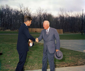 JFK, john f. kennedy, and dwight eisenhower image
