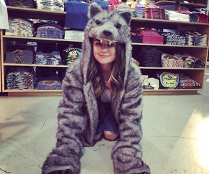 lucy hale, pretty little liars, and wolf image