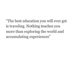 education, travel, and quote image