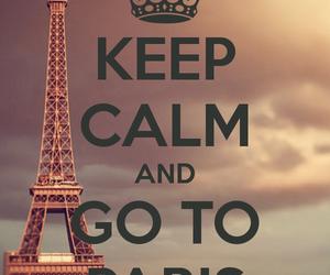 paris, keep calm, and calm image