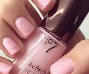 nail polish, pink, and cute image
