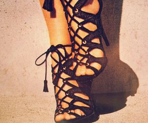 fashion, heels, and lace up image