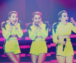 miley cyrus, miley, and yellow image