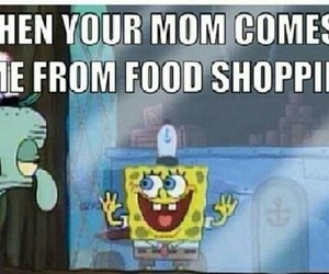 funny, spongebob, and food image