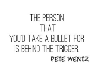love, quote, and bullet image