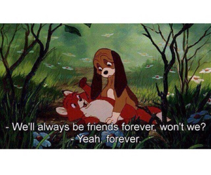 disney, friends, and forever image