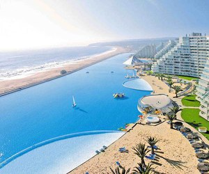 pool, beach, and chile image
