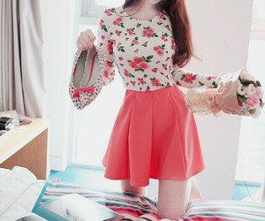 blouse, pink, and cute image
