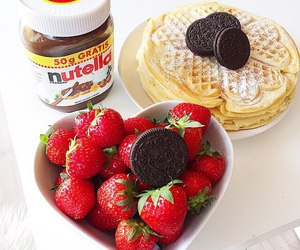 nutella, oreo, and delicious image