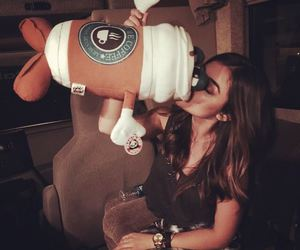 lucy hale, coffee, and pll image