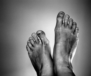 black and white, feet, and toes image