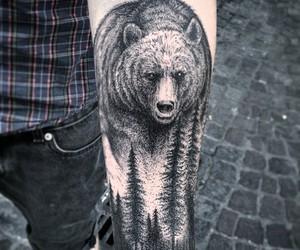 tattoo, bear, and art image