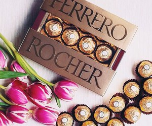 chocolate, ferrero rocher, and sweets image