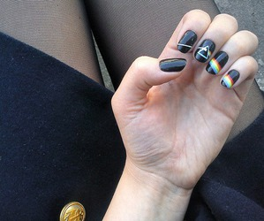 nails, Pink Floyd, and black image