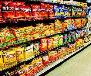 food, chips, and doritos image