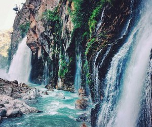 explore and waterfall image