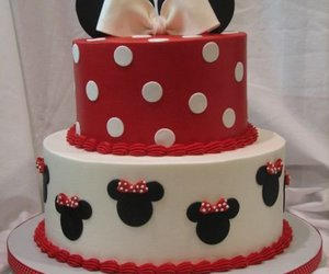 cake, minnie, and red image