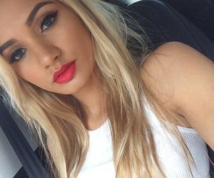 blonde, pia mia, and makeup image